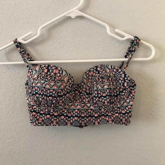 Xhilaration Other - Pink and Blue Padded Bikini Top